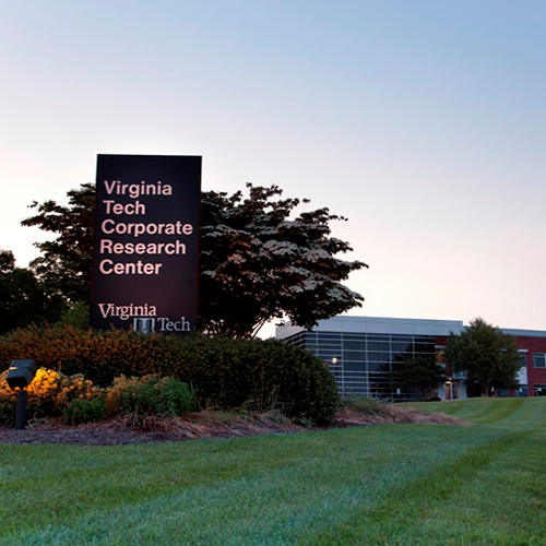 VA Tech Corporate Research Center sign